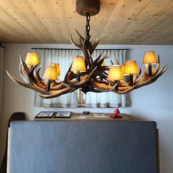 XXL Geweih Chalet Esstischlampe 160 x 90cm