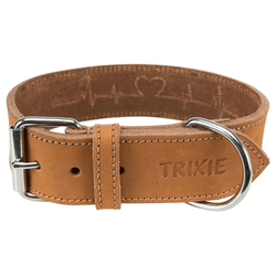 Trixie Fettleder-Halsband braun, Größe: M