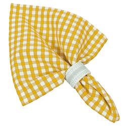 Stoffserviette, Textil Stoff Serviette gelb kariert, matches21 HOME & HOBBY gelb