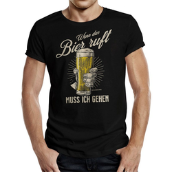 Rahmenlos T-Shirt mit lustigem Bier-Print XXXL