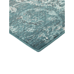 Teppich Patchwork Dessin grün ca. 80/300 cm, (Läufer)