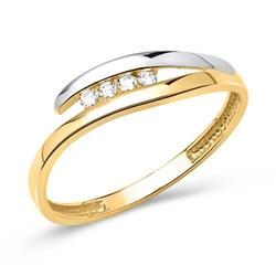 Hochwertiger Gelb- & Weißgoldring