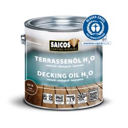 Saicos H2O Terrassenöl, teak, Holzpflege für den Schutz und die Pflege von Holzdecks und anderen Außenhölzern, 125 ml - Dose