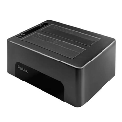 LogiLink USB 3.0, 2-Bay Dockingstation für 2.5 & 3.5