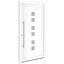 RORO Türen & Fenster Haustür Otto 17, BxH: 100x210 cm, weiß/weiß, Anschlag rechts, ohne Griff