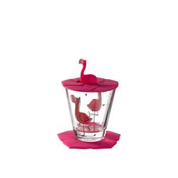 LEONARDO Kinderbecher BAMBINI Kinderbecherset Flamingo 3-teilig (3-tlg)