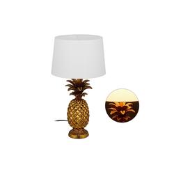 relaxdays Tischleuchte Tischlampe Ananas gold