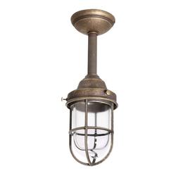 Licht-Erlebnisse Außen-Deckenleuchte Bronzierte Deckenlampe Außen echtes Messing E27 Maritimer Stil Hof Balkon