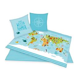 Herding Bettwäsche Weltkarte