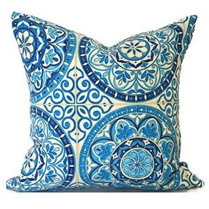 Toll2452 Blaue Outdoor-Kissen, 45 x 45 cm, Outdoor-Kissen, Dekokissen, Outdoor-Kissenbezug, beste Kissenfarbe, Rad, Indigo