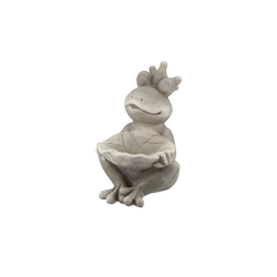 Deko Figur Frosch ¦ grau ¦ Magnesia
