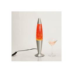 Licht-Erlebnisse Lavalampe JENNY Lavalampe Orange Glitter Tischlampe Wohnzimmer dekorativ Lampe