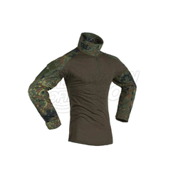 Combat Shirt Long Sleeve Größe S in Flecktarn