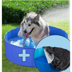 Zwembad  met afdekhoes voor de hond  M