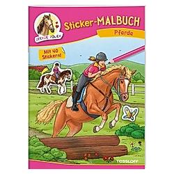 Sticker-Malbuch Pferde - Buch
