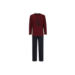 Pyjama Herren Schlafanzug 2-tlg. Set - Pyjama, lang, rot 2XL