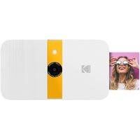 Kodak Smile Digital Sofortbildkamera mit 2x3 ZINK Drucker - HD-Qualität - 10MP, LCD Display, Automatischer Blitz, integrierte Bearbeitungsfunktion, Micro SD Kartenleser und Autofokus - Weiß/ Gelb