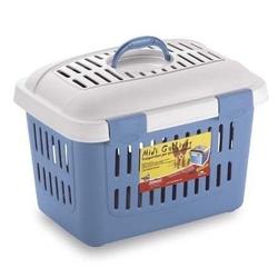 ZOLUX Hundetransportbox Midi Gulliver weiß blau Stahl 45 x 33 x 33 cm