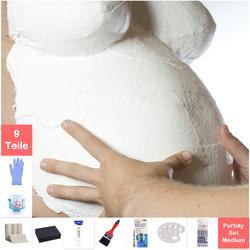 Purbay Premium Babybauch Gipsabdruck Set MEDIUM