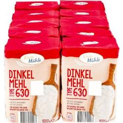 Kornmühle Dinkelmehl T630 1 kg, 10er Pack