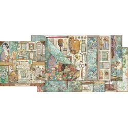 Stamperia Motivpapier Scrapbook-Block 'Atelier', 10 Bogen, 30,5 x 30,5 c, 10 Bogen, 30,5 cm x 30,5 cm