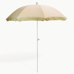 Strandschirm natur/creme 180 cm UV30 Sonnenschirm Gartenschirm Schirm