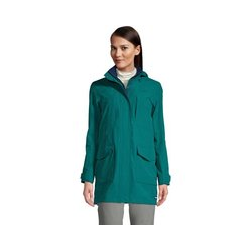 Leichte Regenjacke SQUALL, Damen, Größe: 48-50 Tall, Grün, Fleece, by Lands' End, Jade Smaragd - 48-50 - Jade Smaragd