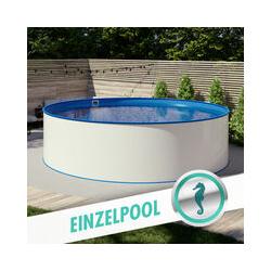 Pool Total - Rundpool Stahlwandbecken Ø 3,50 x 1,20 m, Folie blau 0,80 mm