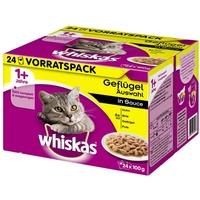 Whiskas 1+ Geflügelauswahl in Sauce 24 x 100 g