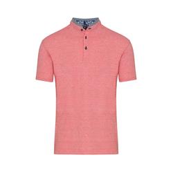 Lavard Rotes Poloshirt mit Stehkragen 72973