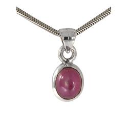 Adelia´s Kette mit Anhänger Rubin Anhänger 925 Silber im Set mit Halskette