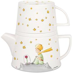 Könitz Teekanne Tea for me - Der kleiner Prinz, 0,65 l, (Set), Tekanne+Becher+Deckel/ Ablageschale, New Bone China-Porzellan