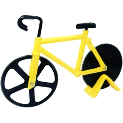 kueatily Pizzaschneider, 18 cm, Doppelklingen Fahrrad Pizza Cutter Küchenhelfer
