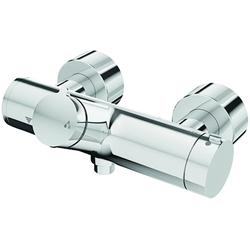 Schell Vorwand-Duscharmatur VITUS VD-T/u chrom, Auf/Zu Thermostat, Duschanschluss oben mit Desinfektion