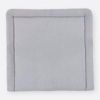 KraftKids Wickelauflage Musselin grau Punkte, Wickelunterlage 78x78 cm (BxT), Wickelkissen