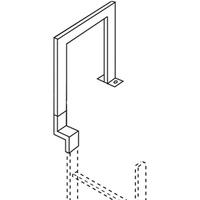 ZARGES Übersteigbügel Stahl 250 mm Tiefe