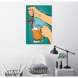 Posterlounge Wandbild, Bier zapfen 20 cm x 30 cm
