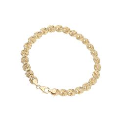 Luigi Merano Armband Rosenkette, Gold 333