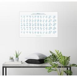 Posterlounge Wandbild, Braille-Alphabet 100 cm x 70 cm