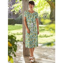 Paola Jerseykleid mit Zitronendruck 50