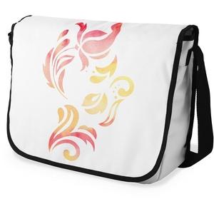Bonamaison Digital Bedruckte Messenger Schultaschen mit Schwarzem Riemen für Mädchen und Jungen, Zurück zur Schule, Kuriertaschen für Schüler, Umhängetaschen, Größe: 29x36 cm