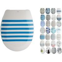 MSV WC-Sitz DEAUVILLE, Duroplast, mit Softclose blau