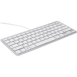 R-GO Tools Compact USB Tastatur Belgisch, AZERTY Schwarz Ergonomisch