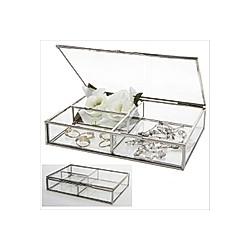Vitrinen Echt Glas Design silber Messing
