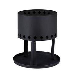 relaxdays Feuerschale   schwarz 30,0 cm