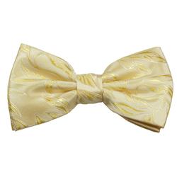 Paul Malone Fliege Herren Schleife modern elegant festlich floral Hochzeit Fliege-V15 (mit Karton), creme gelb
