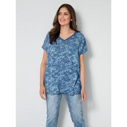 Blusen-Shirt Janet & Joyce Hellblau/Jeansblau