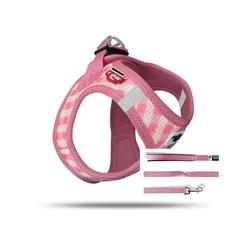 Curli Vest Geschirr Puppy Set Pink-caro XS