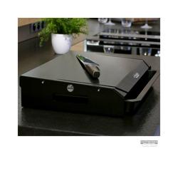 CUTTWORXS Schneidbrett Black 'n Wood Pure Black - 20mm HD-PE500 Platte - 44x30mm - Profi Arbeitsstation, Kunststoff