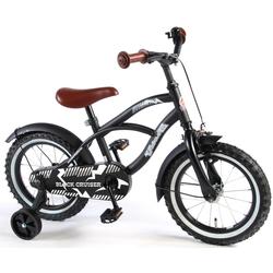 Volare Kinderfahrrad Fahrrad 14 zoll Black Cruiser, 1 Gang